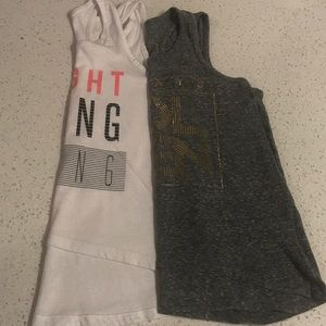 Bundle of 2 Old Navy loose tank tops size 8